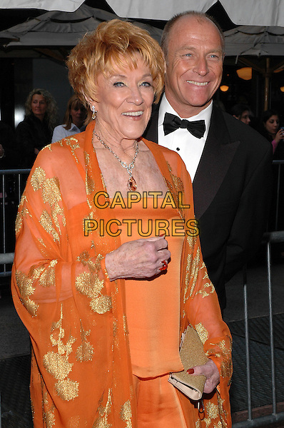 JEANNE COOPER of The Young and the Restless & CORBIN BERSEN of General Hospital .Arrivals at the 2005 Daytime Emmys at Radio City Music Hall in New York City, USA, 20 May 2005..half length orange.Ref: ADM.www.capitalpictures.com.sales@capitalpictures.com.©Patti Ouderkirk/AdMedia/Capital Pictures.