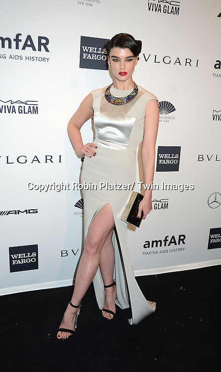 Crystal Renn attends the amfAR New York Gala on February 5, 2014 at Cipriani Wall Street in New York City.