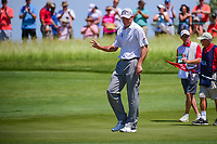 Jim Furyk (USA) after sinking a putt on 11 during Thursday's round 1 of the 117th U.S. Open, at Erin Hills, Erin, Wisconsin. 6/15/2017.<br /> Picture: Golffile | Ken Murray<br /> <br /> <br /> All photo usage must carry mandatory copyright credit (&copy; Golffile | Ken Murray)