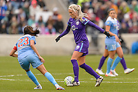 Bridgeview, IL, USA - Sunday, May 1, 2016: Orlando Pride midfielder Kaylyn Kyle (6) during a regular season National Women's Soccer League match between the Chicago Red Stars and the Orlando Pride at Toyota Park. Chicago won 1-0.