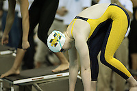 Katrin Vetter (University of Michigan) competing in the 200 yard Free Preliminaries at the 2008 Women's Big Ten Swimming and Diving Championships, held as the Ohio State University's McCorkle Aquatic Center. Feb. 21st-23rd, 2008. Three Meter Prelims...