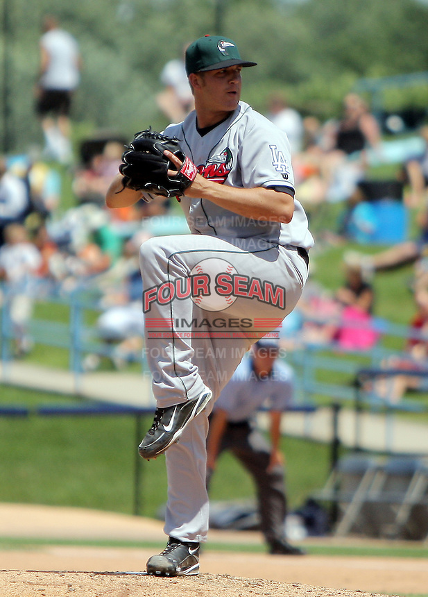 January 20, 2010:  Pitcher Jon Michael Redding of the Great Lakes Loons delivers a pitch during a game at Fifth Third Ballpark in Comstock Park, FL.  The Loons are the Low-A affiliate of the Los Angeles Dodgers.  Photo By Emily Jones/Four Seam Images