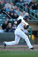Rochester Red Wings outfielder Ben Revere #5 during during a game against the Scranton Wilkes-Barre Yankees at Frontier Field on April 9, 2011 in Rochester, New York.  Rochester defeated Scranton 7-6 in twelve innings.  Photo By Mike Janes/Four Seam Images