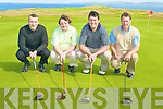 CHAIRTY GOLF: The Nevada Bob's, Tralee team taking part in the Captains Charity Day in aid of Enable Ireland at Tralee Golf Club on Saturday l-r: Ronan Kelliher, Dermot O'Connor, Con O'Connor and James O'Dowd.