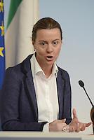 Roma, 28 Febbraio 2014<br /> La Ministra della Salute Beatrice Lorenzin  al termine del  Consiglio dei Ministri.