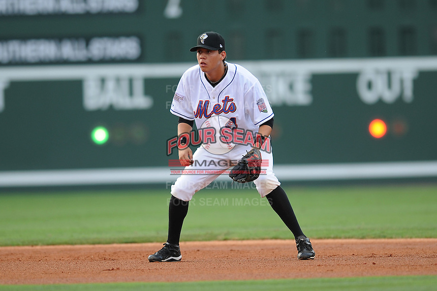Savannah Sand Gnats Wilmer Flores South Atlantic League All Star Game at Fluor Field in Greenville, South Carolina June 22, 2010.   The game ended in a 5-5 tie.  Photo By Tony Farlow/Four Seam Images