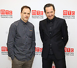 Jonny Lee Miller and Bertie Carvel attend the 'INK' cast photo call and rehearsal at Manhattan Theatre Club Rehearsal Studios on March 5, 2019 in New York City.