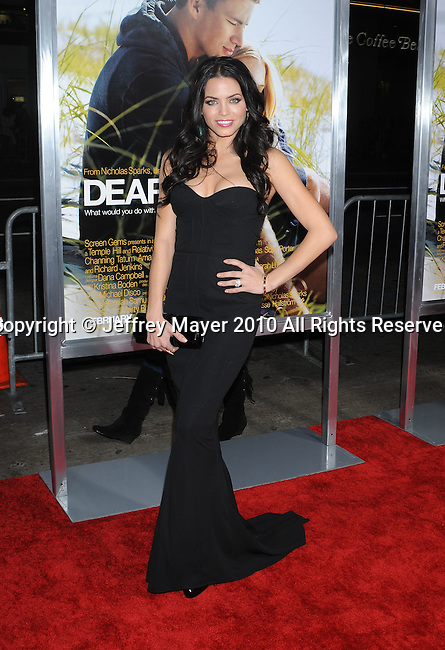 "HOLLYWOOD, CA. - February 01: Jenna Dewan arrives at the ""Dear John"" World Premiere held at Grauman's Chinese Theatre on February 1, 2010 in Hollywood, California."
