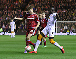 Tomas Kalas of Middlesbrough and Mohamed Diame of Hull City both challenging for the ball during the Sky Bet Championship League match at The Riverside Stadium.  Photo credit should read: Jamie Tyerman/Sportimage