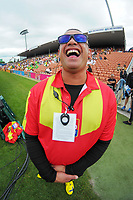 Red Badge security staff. Day one of the 2018 HSBC World Sevens Series Hamilton at FMG Stadium in Hamilton, New Zealand on Saturday, 3 February 2018. Photo: Dave Lintott / lintottphoto.co.nz