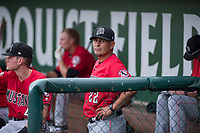 Billings Mustangs manager Ray Martinez (22) during a Pioneer League game against the Ogden Raptors at Lindquist Field on August 17, 2018 in Ogden, Utah. The Billings Mustangs defeated the Ogden Raptors by a score of 6-3. (Zachary Lucy/Four Seam Images)