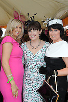 Pictured enjoying the summer fayre on the Ross Hotel / Lane Bar Champagne &amp; Cocktail Marquee at Killarney Races ladies Day on Thursday were from left, Denise Browne, Lisa Bartlett and Dora Browne, Killarney.<br /> Picture by Don MacMonagle<br /> <br /> <br /> PR Photo from Ross Hotel