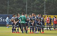 SÃO PAULO,SP, 26.05.2015 - FUTEBOL-PALMEIRAS - Jogadores do Palmeiras durante o treinamento do Palmeiras na Academia de Futebol, na Barra Funda zona oeste nesta terça-feira, 26.  (Foto: Bruno Ulivieri/Brazil Photo Press)