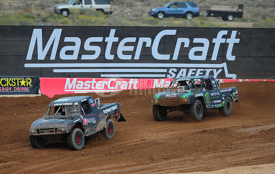 Mar. 19, 2011; Chandler, AZ, USA;  LOORRS pro lite driver Austin Kimbrell leads Cameron Steele during round one at Firebird International Raceway. Mandatory Credit: Mark J. Rebilas-US PRESSWIRE