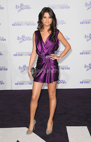 "Selena Gomez at the Los Angeles premiere of ""Justin Bieber: Never Say Never""  at Nokia Theater at L.A. Live in Los Angeles, CA, USA.February 8, 2011 © mpi11 / MediaPunch Inc."