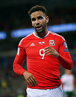 Hal Robson-Kanu of Wales in action during the FIFA World Cup Qualifier Group D match between Wales and Republic of Ireland at The Cardiff City Stadium, Wales, UK. Monday 09 October 2017