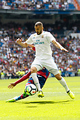 9th September 2017, Santiago Bernabeu, Madrid, Spain; La Liga football, Real Madrid versus Levante; Karim Benzema (9) of Real Madrid with the ball