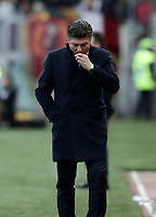 Football, Serie A: AS Roma - Torino, Olympic stadium, Rome, January 19, 2019. <br /> Torino's coach Walter Mazzarri during the Italian Serie A football match between AS Roma and Torino at Olympic stadium in Rome, on January 19, 2019.<br /> UPDATE IMAGES PRESS/Isabella Bonotto