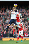 Arsenal's Laurent Koscielny tussles with Tottenham's Harry Kane during the Premier League match at the Emirates Stadium, London. Picture date November 6th, 2016 Pic David Klein/Sportimage