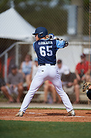 Christian Collier during the WWBA World Championship at the Roger Dean Complex on October 18, 2018 in Jupiter, Florida.  Christian Collier is an outfielder from Ozark, Alabama who attends George W. Long High School.  (Mike Janes/Four Seam Images)