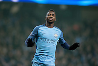 Kelechi Iheanacho of Manchester City celebrates his goal making it 1 1 during the UEFA Champions League GROUP match between Manchester City and Celtic at the Etihad Stadium, Manchester, England on 6 December 2016. Photo by Andy Rowland.