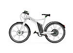Smart ebike Electric bicycle isolated on white background with clipping path