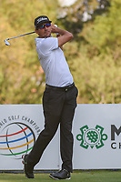 Rafael Cabrera Bello (ESP) watches his tee shot on 18 during round 3 of the World Golf Championships, Mexico, Club De Golf Chapultepec, Mexico City, Mexico. 3/3/2018.<br /> Picture: Golffile | Ken Murray<br /> <br /> <br /> All photo usage must carry mandatory copyright credit (&copy; Golffile | Ken Murray)