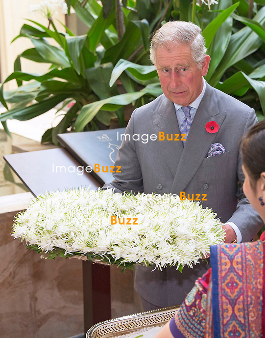 PRINCE CHARLES AND CAMILLA<br /> visit the Mumbai Mobile Creche, Mumbai, India_09/11/2013.<br /> The couple are on a 9-day tour of India