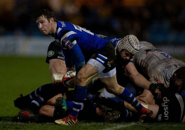 Bath Rugby's Will Chudley<br /> <br /> Photographer Bob Bradford/CameraSport<br /> <br /> Gallagher Premiership - Bath Rugby v Gloucester Rugby - Monday 4th February 2019 - The Recreation Ground - Bath<br /> <br /> World Copyright &copy; 2019 CameraSport. All rights reserved. 43 Linden Ave. Countesthorpe. Leicester. England. LE8 5PG - Tel: +44 (0) 116 277 4147 - admin@camerasport.com - www.camerasport.com