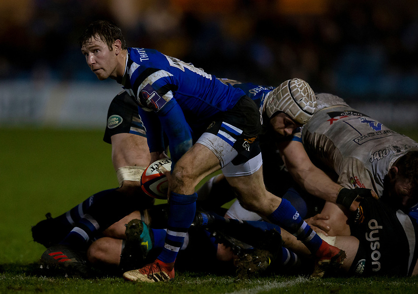 Bath Rugby's Will Chudley<br /> <br /> Photographer Bob Bradford/CameraSport<br /> <br /> Gallagher Premiership - Bath Rugby v Gloucester Rugby - Monday 4th February 2019 - The Recreation Ground - Bath<br /> <br /> World Copyright © 2019 CameraSport. All rights reserved. 43 Linden Ave. Countesthorpe. Leicester. England. LE8 5PG - Tel: +44 (0) 116 277 4147 - admin@camerasport.com - www.camerasport.com