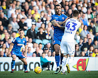 Bolton Wanderers' Josh Magennis competing with Leeds United's Mateusz Klich <br /> <br /> Photographer Andrew Kearns/CameraSport<br /> <br /> The EFL Sky Bet Championship - Leeds United v Bolton Wanderers - Saturday 23rd February 2019 - Elland Road - Leeds<br /> <br /> World Copyright © 2019 CameraSport. All rights reserved. 43 Linden Ave. Countesthorpe. Leicester. England. LE8 5PG - Tel: +44 (0) 116 277 4147 - admin@camerasport.com - www.camerasport.com