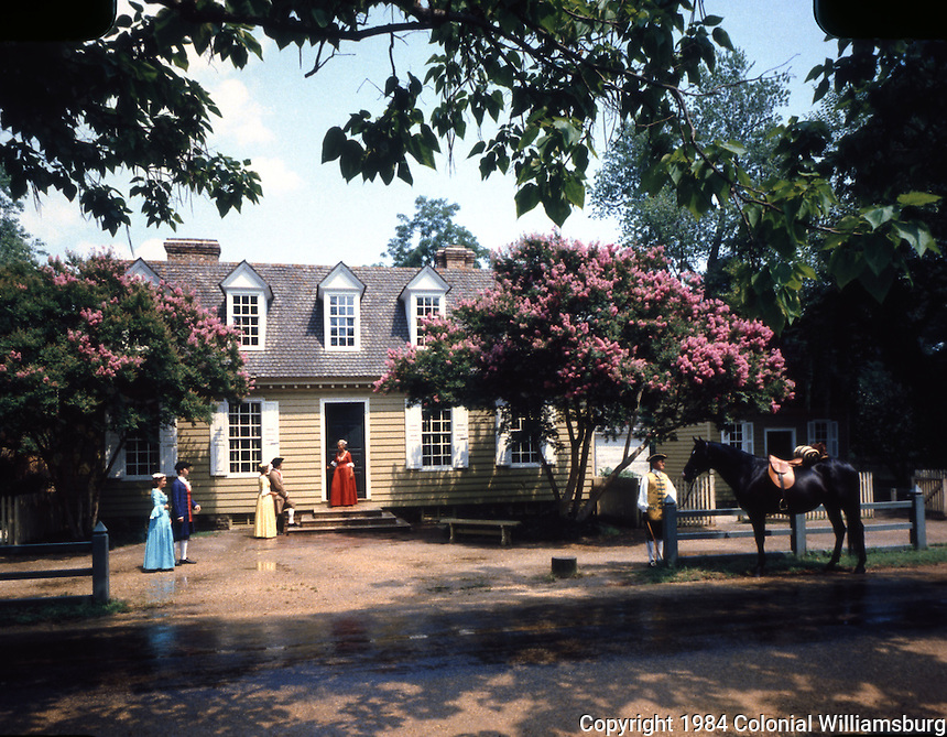 Virginia: Williamsburg--The Brush-Everhard House.