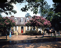 Virginia: Williamsburg--The Brush-Everhard House.