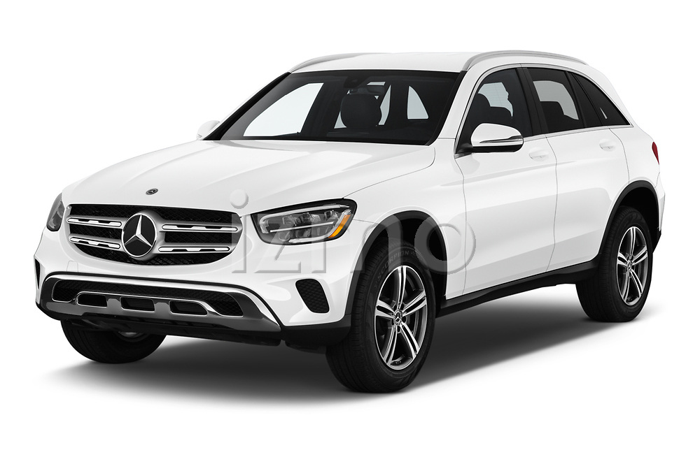 2020 Mercedes Benz GLC-Class GLC300 5 Door SUV angular front stock photos of front three quarter view