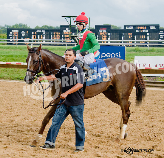 Brujo de Olleros winning The Carl Hanford Memorial Stakes at Delaware Park on 8/19/13