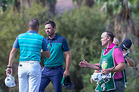 Sergio Garcia (ESP) and Charl Schwartzel (RSA) during the first round at the Nedbank Golf Challenge hosted by Gary Player,  Gary Player country Club, Sun City, Rustenburg, South Africa. 08/11/2018 <br /> Picture: Golffile | Heinrich Helmbold<br /> <br /> <br /> All photo usage must carry mandatory copyright credit (&copy; Golffile | Heinrich Helmbold)