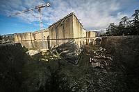 2019. l'Aquila dieci anni dopo il terremoto del 2009 Fortezza spagnola Lavori di restauro