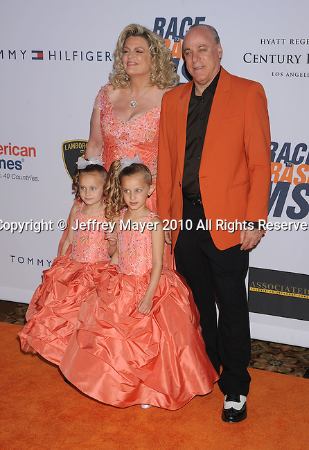 CENTURY CITY, CA. - May 07: Nancy Davis, Ken Rickel and daughters arrive to the 17th Annual Race To Erase MS held at Hyatt Regency Century Plaza on May 7, 2010 in Century City, California.