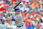3 September 2012: Chicago Cubs infielder Josh Vitters in action against the Washington Nationals at Nationals Park in Washington, DC. The Nationals edged out the visiting Cubs 2-1, in the first game of heir 4-game series. Mandatory Credit: Ed Wolfstein Photo