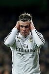 Real Madrid´s Gareth Bale celebrates a goal (1-0) during La Liga match at Santiago Bernabeu stadium in Madrid, Spain. March 15, 2015. (ALTERPHOTOS/Victor Blanco)