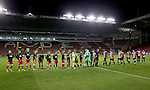 hand shakes before the FA Youth Cup First Round match at Bramall Lane Stadium, Sheffield. Picture date: November 1st 2016. Pic Richard Sellers/Sportimage
