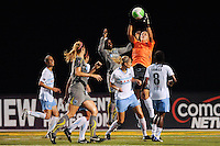 Chicago Red Stars goalkeeper Jillian Loyden (1) grabs a pass. The Philadelphia Independence defeated the Chicago Red Stars 3-0 during a Women's Professional Soccer (WPS) match at John A. Farrell Stadium in West Chester, PA, on July 28, 2010.