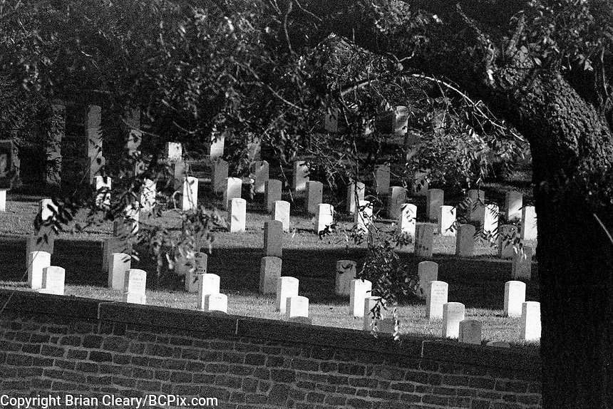 Cemetery, Gettysburg Civil War Battlefield, Gattysburg National Military Park, Gettysburg, Pennsylvania, photographed on Kodak T-Max Film with Canon EOS Elan 7NE SLR 35mm film camera, September 2018. (Photo by Brian Cleary/bcpix.com)