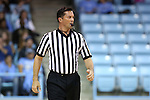02 January 2015: Referee Edward Sidlasky. The University of North Carolina Tar Heels hosted the East Tennessee State University Buccaneers at Carmichael Arena in Chapel Hill, North Carolina in a 2014-15 NCAA Division I Women's Basketball game. UNC won the game 95-62.