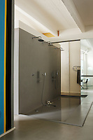There is plenty of room for friends in the vast triple-headed walk-in shower