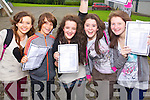 Four students that got ten A's and Maeve Lyons Centre got 11 a's in their Junior Cert, pictured at Mercy Mounthawk Secondary, Tralee on Wednesday, from left: Aoife O'Connell (Ardfert), Murrough Connolly (Ballyard), Maeve Lyons (Tralee) Emma McCarthy (Tralee) and Grace Egan (Ardfert)..