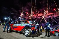 13th February 2020, Torsby base and Karlstad, Värmland County, Sweden; WRC Rally of Sweden, Shakedown event;  Ole Christian Veiby (NOR) - Jonas Andersson (SUE) - Hyundai Motorsport N  - WRC2
