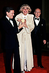 Jerry Herman, Carol Channing and Sammy Cahn attend the Songwriters Hall Of Fame in New York City. 1982