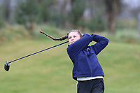 Beth Coulter (Kirkistown Castle) on the 1st tee during Round 1 of the Irish Girls U18 Open Stroke Play Championship at Roganstown Golf &amp; Country Club, Dublin, Ireland. 05/04/19 <br /> Picture:  Thos Caffrey / www.golffile.ie