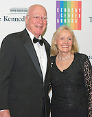 United States Senator Patrick Leahy (Democrat of Vermont) and his wife, Marcelle, arrive for the formal Artist's Dinner honoring the recipients of the 2013 Kennedy Center Honors hosted by United States Secretary of State John F. Kerry at the U.S. Department of State in Washington, D.C. on Saturday, December 7, 2013. The 2013 honorees are: opera singer Martina Arroyo; pianist,  keyboardist, bandleader and composer Herbie Hancock; pianist, singer and songwriter Billy Joel; actress Shirley MacLaine; and musician and songwriter Carlos Santana.<br /> Credit: Ron Sachs / CNP